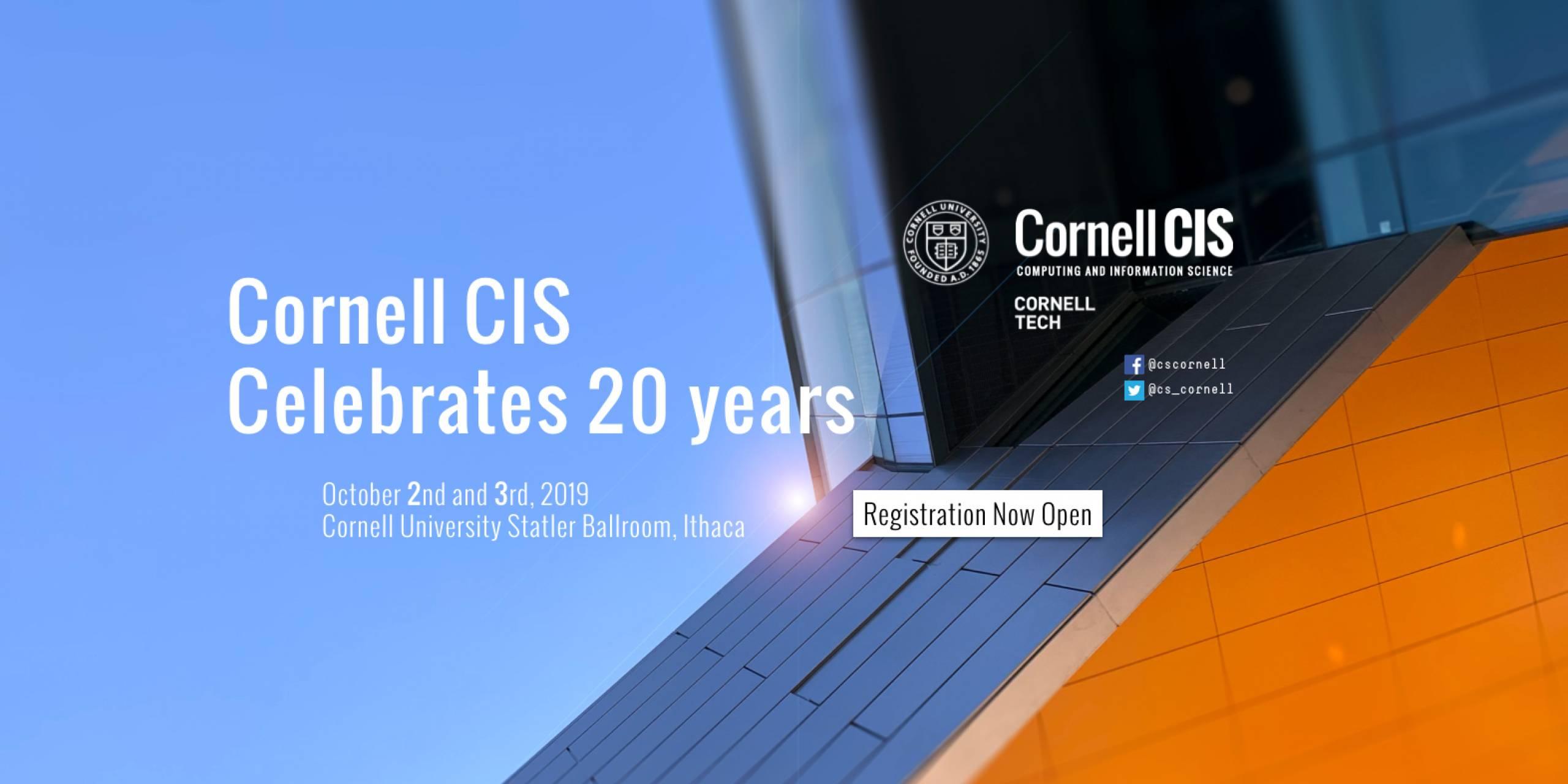 Cornell CIS Celebrates 20 Years