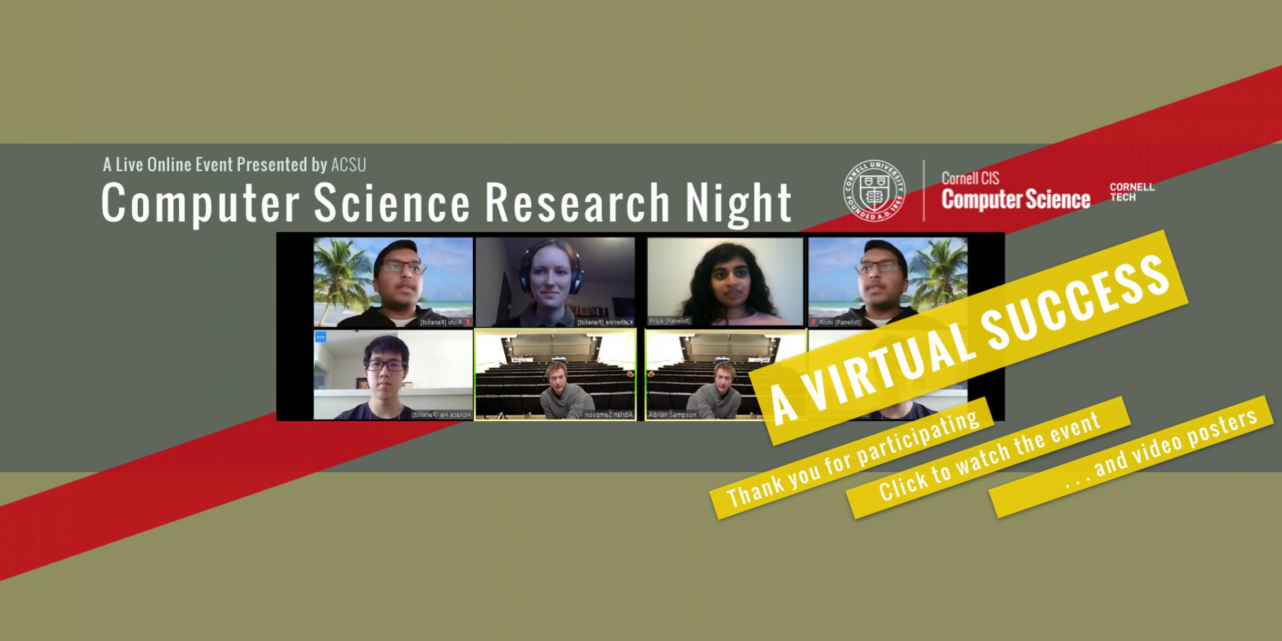 Computer Science Research Night, Spring 2020
