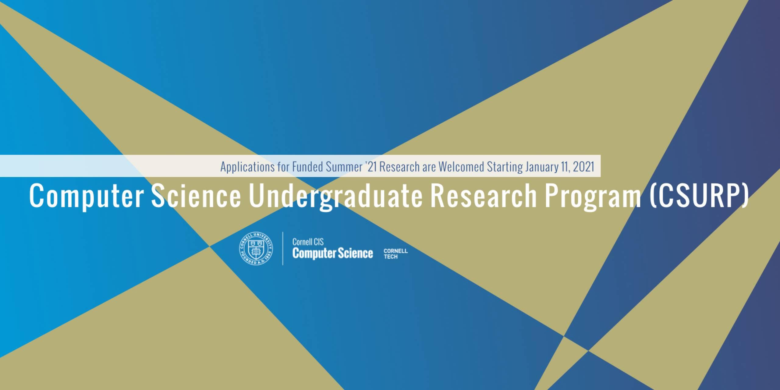 Computer Science Undergraduate Research Program (CSURP)