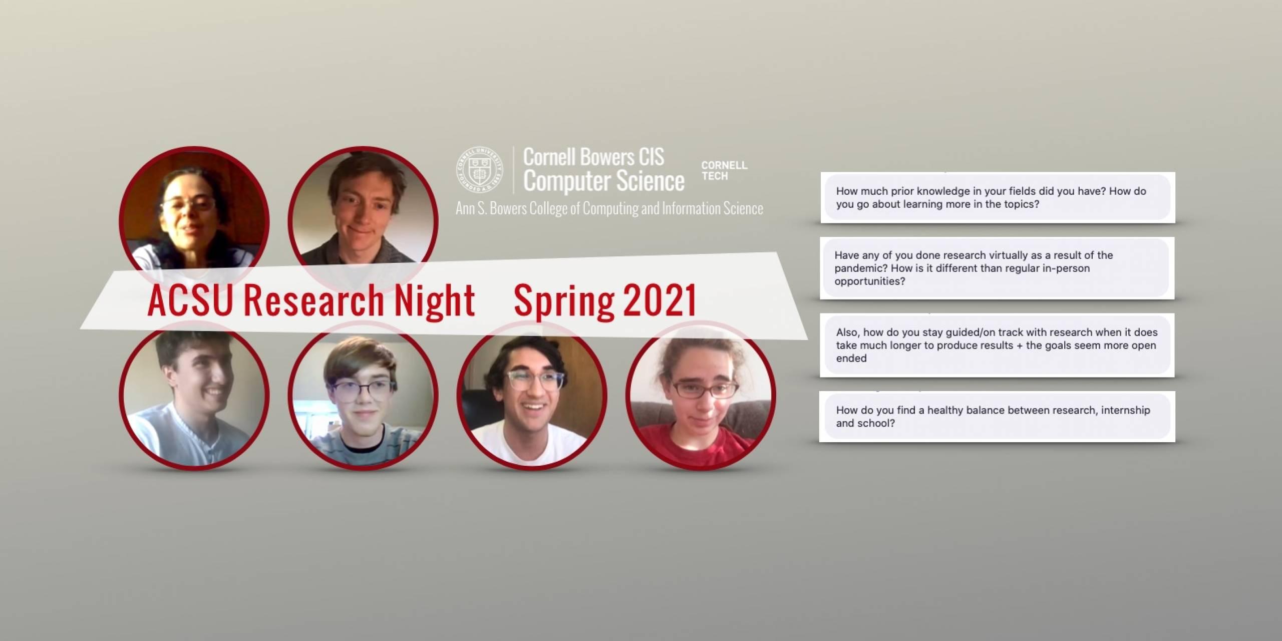 ACSU Research Night — Spring 2021