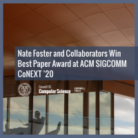 Nate Foster and Collaborators Win Best Paper Award at ACM SIGCOMM CoNEXT '20