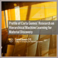 Profile of Carla Gomes' Research on Hierarchical Machine Learning for Material Discovery