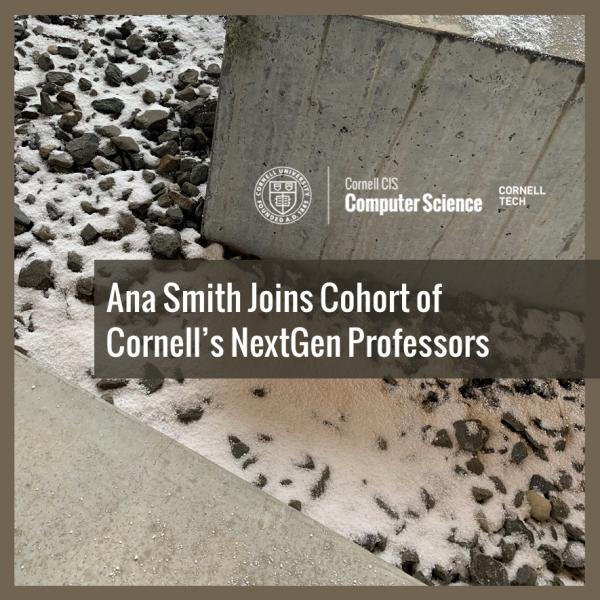 Ana Smith Joins Cohort of Cornell's NextGen Professors
