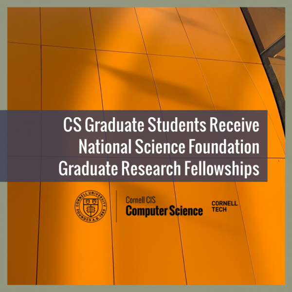 CS Graduate Students Receive National Science Foundation Graduate Research Fellowships