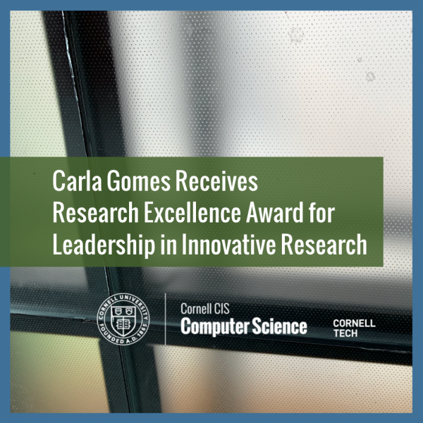 Carla Gomes Research Excellence Award