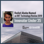 Rediet Abebe Named an MIT Technology Review 2019 Innovator Under 35