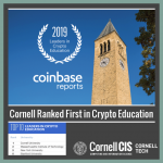 Cornell CS Ranked First in Crypto Education