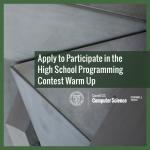 Cornell University High School Programming Contest Announced