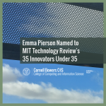 Emma Pierson Named to MIT Technology Review's 35 Innovators Under 35