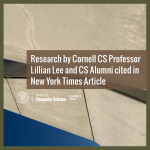 Research by Cornell CS Professor Lillian Lee and CS Alumni Cited in New York Times Article