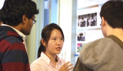 PhD students discuss their research